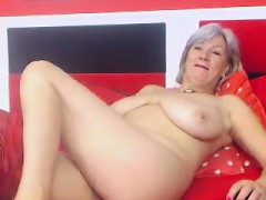 Busty Granny Linda 50 years  Solo