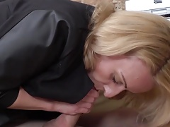 Linda munching cum from napping 19 year old