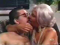 silver haired grandmother spunked on