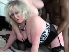Granny Claire Knight interracial Threeway