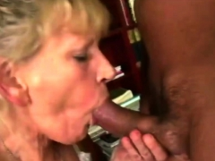 Old blond with a young dick luvs her afternoon