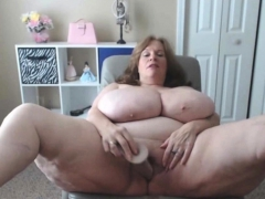 BBW Granny Has The Biggest All-natural Saggy Tits In USA
