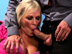 Cocked Boss Fucked the Busty Mature Doll