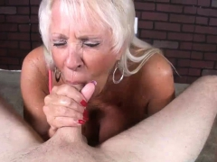 Mature Mummy Loves His Big Blast In Her Gullet