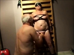 Slave Grandma Lia 60 tied and played