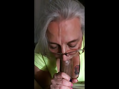 Grandma Enjoy Dark-hued Cock