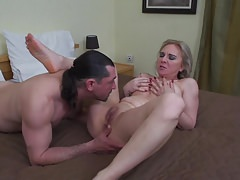 Mature wife blow and fuck big boner