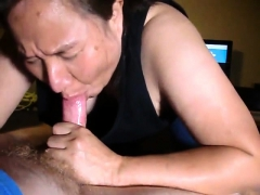 Close up with  maiden  blowjob