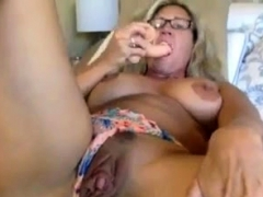Granny goes  solo on webcam