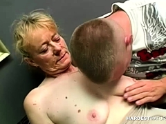 Bushy Gran  Being Fucked Rigid