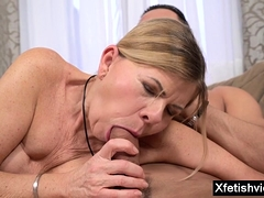 Super-steamy pornstar fetish with cumshot