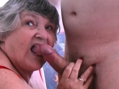 80 yr older Grandmother Libby nails young lad