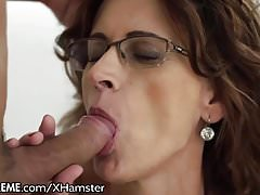 Glasses GILF Loves Taking Young Studs Cock