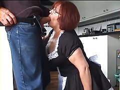 Velmadoo the French maid gagging on lollipop part 1