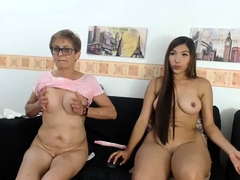 Busty Granny in cam