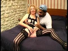 Grannie Agnes analfucked by a black manmeat