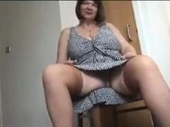 Grannie with big knockers wanking hairy grannie slit