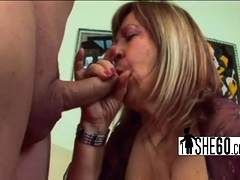 Tattooed dude banging hot grannie
