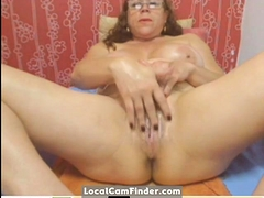 Webcam - Colombian granny  taunting (no sound)
