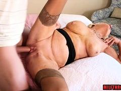Big tits milf sex and cum shot