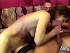 Moist pussy filled with stiff knob