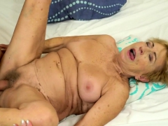 Older light-haired grandma fucked by a dude