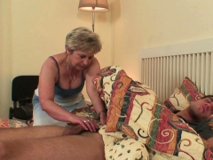 She finds him doggy-fucking senior mother inlaw