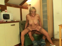 old lean  mommy rides son-in-law cock
